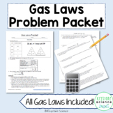 Chemistry Gas Laws Packet Massive Problem Set ANSWER KEY INCLUDED