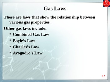 Chemistry - Gases PowerPoint