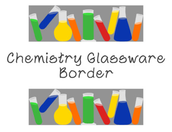 picture about Printable Glassware named Chemistry Glware Bulletin Board Border Beakers Lab Printable Total Coloration PDF