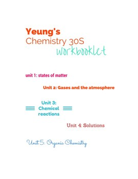 Chemistry Gr 11 - Entire course day to day work book 115 pages of questions