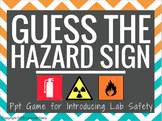Science Lab Safety -Hazard Sign Posters- PowerPoint Game (printable)