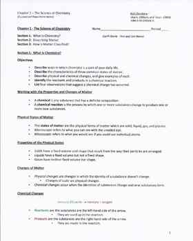 Chemistry-Holt (2006): Chapter 1 - PowerPoint Worksheets/Notes for Students
