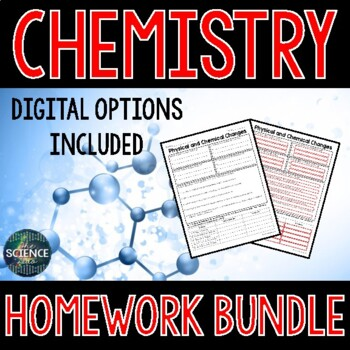 Chemistry Homework - Distance Learning Compatible