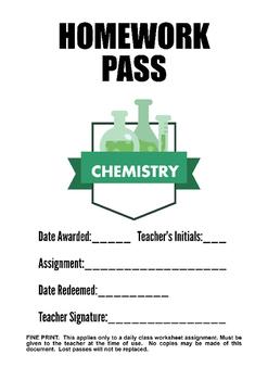 Chemistry Homework Pass