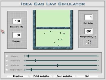 Chemistry - Ideal Gas Law Lab - PC & MAC Flash Version