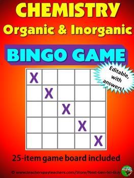 Chemistry: Inorganic and Organic: Bingo Review Game