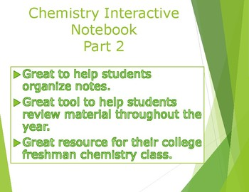 Chemistry Interactive Notebook Part 2