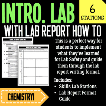Chemistry-Introductory Lab Stations Activity