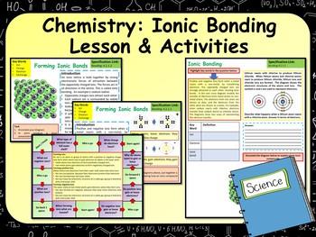 Chemistry:  Ionic Bonding Lesson & Activities