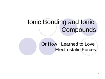 Chemistry - Ionic Bonds and Metallic Bonds