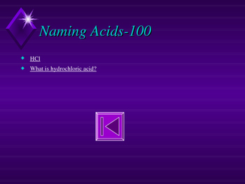 Chemistry Jeopardy-Acids and Bases