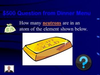 Chemistry Jeopardy Challenge