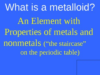 Chemistry Jeopardy - Periodic Table and Atoms