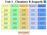 Chemistry Jeopardy Review - Gas Laws & Properties of Liqui
