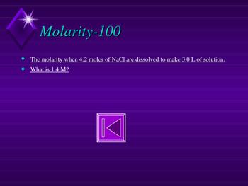 Chemistry Jeopardy-Solutions