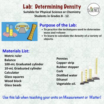 Chemistry Lab:  Determining Density