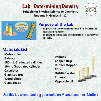 Chemistry Lab:  Determining Density