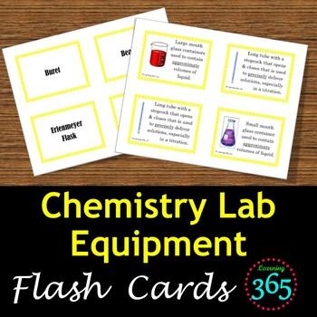 Chemistry Lab Equipment Flash Cards