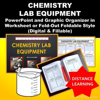 Chemistry Lab Equipment Power Point and Graphic Organizer Foldable for INB