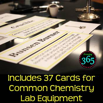 Chemistry Lab Equipment Vocabulary Interactive Word Wall