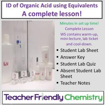 Chemistry Lab: Identification of an Organic Acid using Equ