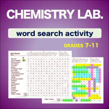 Chemistry Lab. Introduction * WordSearch * Vocabulary* Warm Up * Bell Ringer *