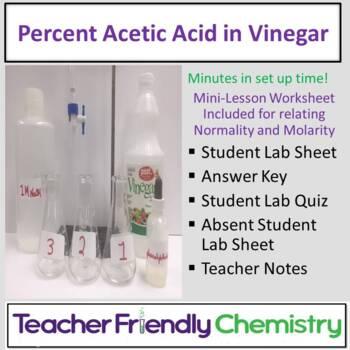 Chemistry Lab: Percent Acetic Acid in Vinegar