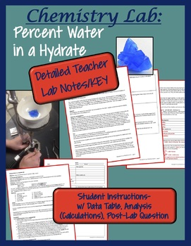 Chemistry Lab: Percent Water in a Hydrate