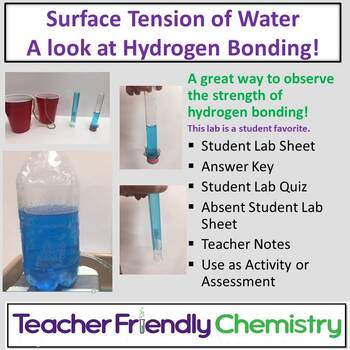 Chemistry Lab: Surface Tension of Water - A Look at Hydrogen Bonding!
