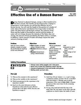 Chemistry Laboratory Manual and Exercises