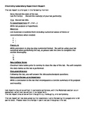 Laboratory Experiment Outline and Rubric