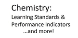 Chemistry Learning Standards, Performance Indicators, and Test Topics