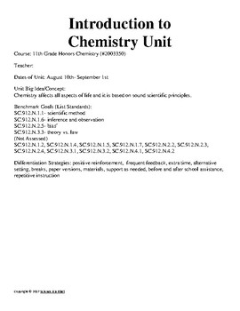 Chemistry Lesson Plan