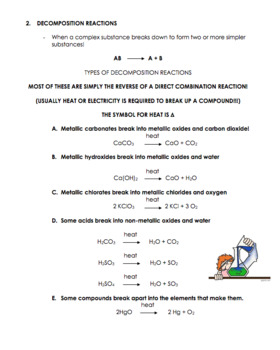 Chemistry Lesson Plan:  Chemical Reactions Part 1