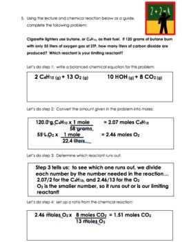 Chemistry Lesson Plan: Stoichiometry Part 3