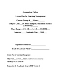 Chemistry Lesson Plan for Year 9 Semester 1