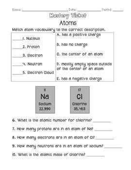 Chemistry Mastery Tickets