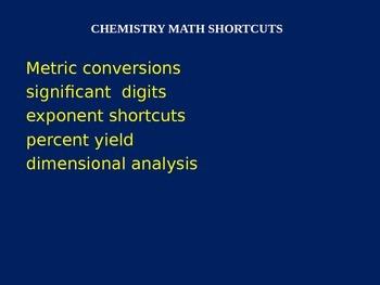 Chemistry Math Shortcuts