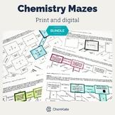 Chemistry Mazes Activity BUNDLE - Print and Digital   Digi