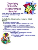 Chemistry Methods and Measurement Unit Bundle