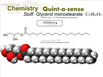 Chemistry Mini-Lesson & Treat: Emulsifiers -Glycerol stearate