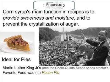 Chemistry Mini-Lesson & Treat: Martin Luther King Jr -Glucose