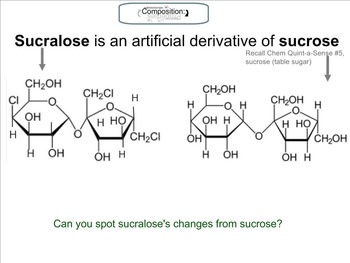 Chemistry Mini-Lesson & Treat: New Year's Diet -Sucralose
