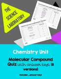 Chemistry: Molecular Compound Quiz *8 Versions*