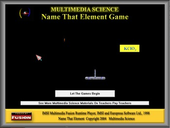 Chemistry - Name That Element Game Software - PC & MAC Fla