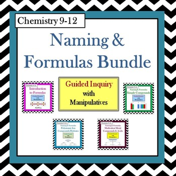 Chemistry Naming & Formulas Guided Inquiry Bundle