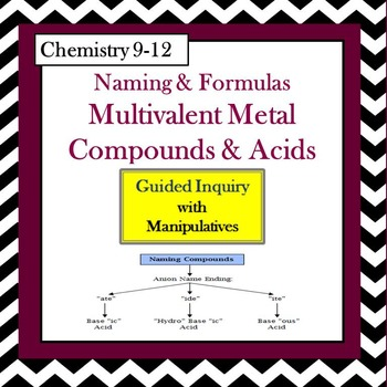 Chemistry Naming & Formulas: Multivalent Compounds & Acids Guided Inquiry