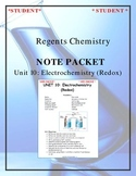 NGSS Regents Chemistry Note Packet - Unit 10: Electrochemistry (Redox)