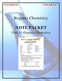 NGSS Regents Chemistry Note Packet - Unit 11: Organic Chemistry