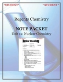 NGSS Regents Chemistry Note Packet - Unit 12: Nuclear Chemistry